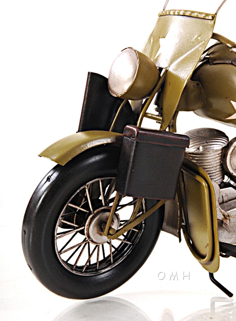 Harley Davidson Military Motorcycle Metal Model Army