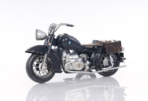 BMW Military Motorcycle w/ Sidecar Metal Model Decor