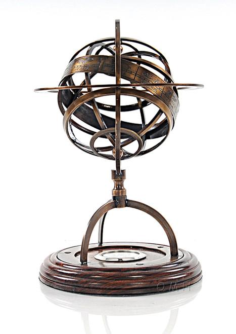 Brass Armillary Sphere Compass Globe Table Top