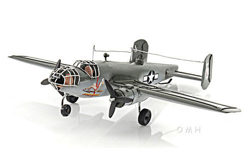B-25 Mitchell Bomber Metal Desk Model