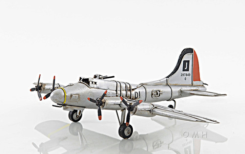 B-17 Flying Fortress Bomber Metal Desk Model