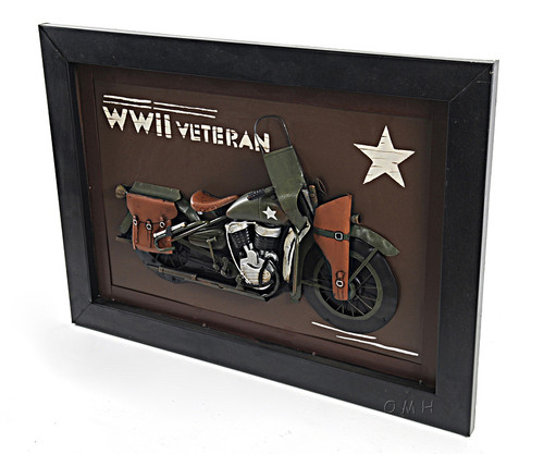 Harley Davidson WWII Army Motorcycle 3D Metal Model