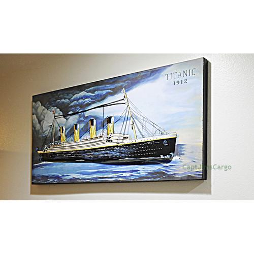 Titanic Ocean Liner 3D Metal Model Painting