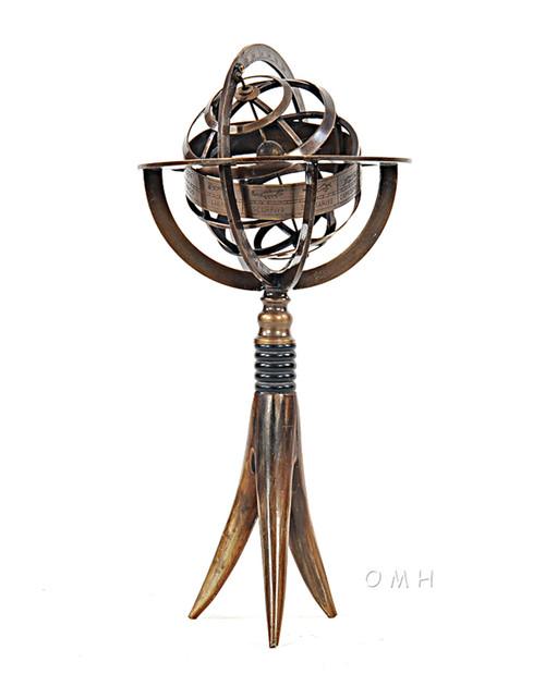 Armillary Sphere Buffalo Horn Stand Globe Table Top