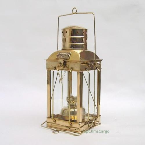 Brass Ships Cargo Hold Oil Lamp Hanging Lantern