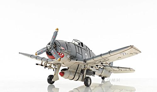 Grumman F6F Hellcat Fighter Aircraft Metal Model