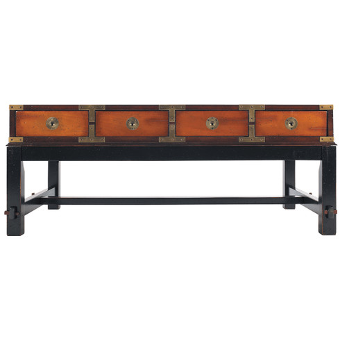 Campaign Bombay Salon Table Honey Black Antiqued Finish
