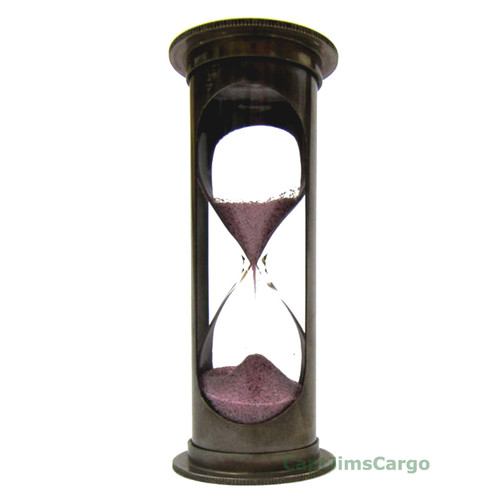 Nautical Brass Marine Sandglass Hourglass 5 Minute