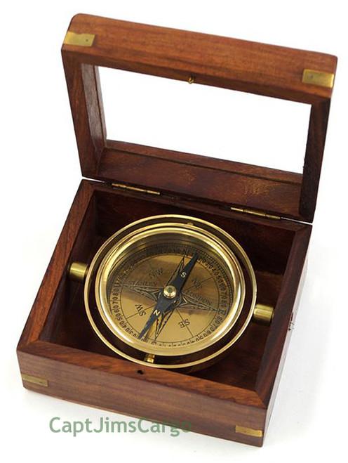 Brass Lifeboat Gimbal Ship Compass Nautical Gift