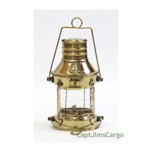 Brass Ships Anchor Oil Lamp Lantern Fresnel Lens