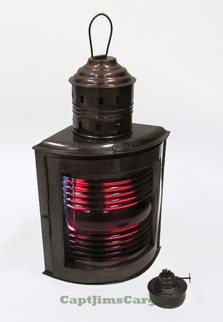 Ships Red Port Running Light Lantern Oil Lamp