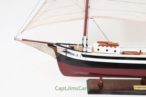 Gaspesienne Boat Wooden Schooner Model Canadian Sailboat