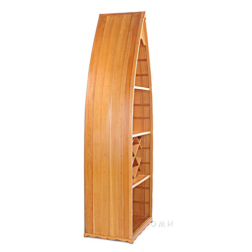 Canoe Wine Rack Book Shelf Bookcase Cedar