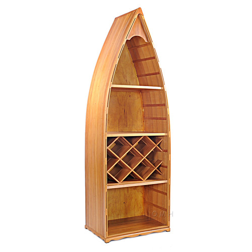 Row Boat Canoe Wine Rack Book Shelf