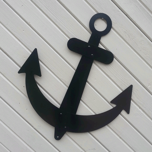 Metal Sailboat Anchor Nautical Ships Wall Decor