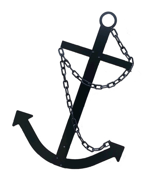 Navy Ships Flat Metal Anchor Nautical Wall Decor