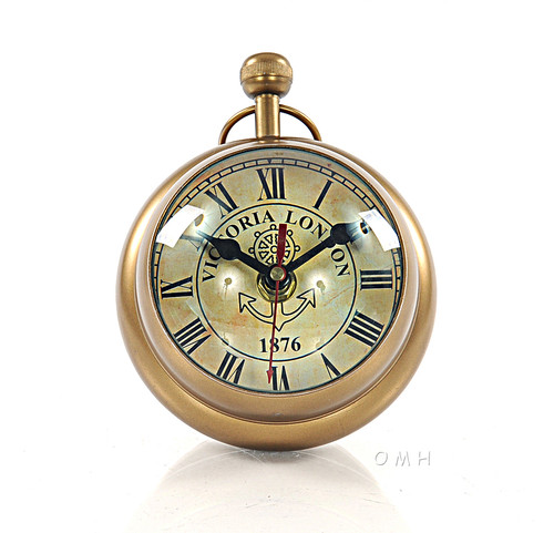 Desk Top Clock Paper Weight Pocket Watch