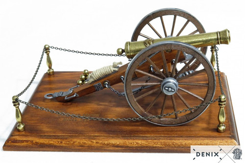 Civil War Cannon 12 Pounder Metal Model USA 1857