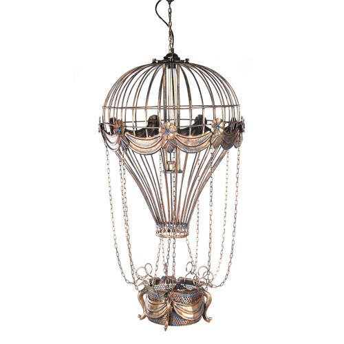 Hot Air Balloon Metal Pendant Hanging Lamp Light
