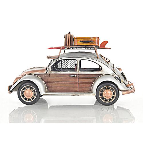 Volkswagen VW Beetle Toy Car Scale Model Surf Board