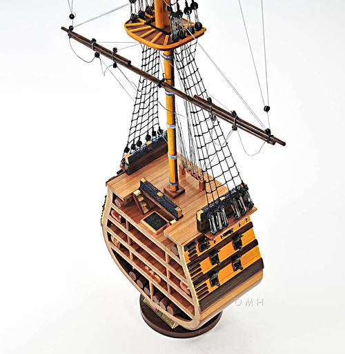 HMS Victory Cross Section Model Nelsons Flagship