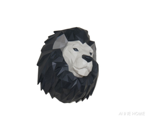 Lion Origami Sculpture African Safari Room Wall Decor