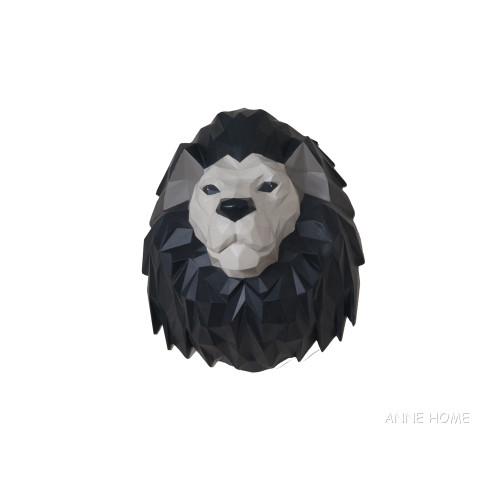 Lion Origami Figurine African Safari Room Wall Decor
