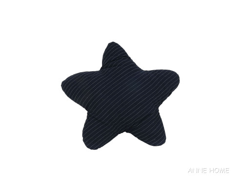 "Navy Blue Starfish Shaped Throw Pillow 12"" Nautical Coastal Decor"