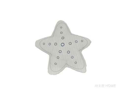White Starfish Throw Pillow Beach House Couch Decor