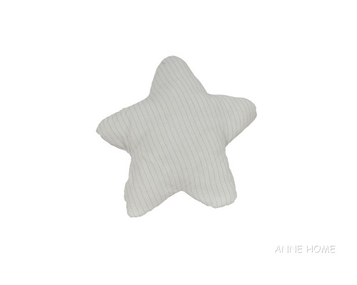 """White Starfish Shaped Throw Pillow 12"""" Beach House Couch Decor"""