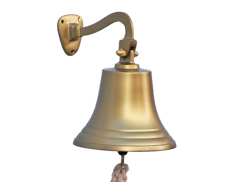 Antiqued Brass Ships Bell Nautical Wall Decor