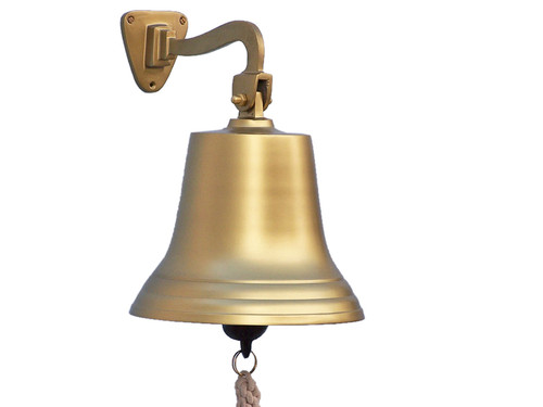 Antiqued Brass Ships Bell Hanging Wall Decor