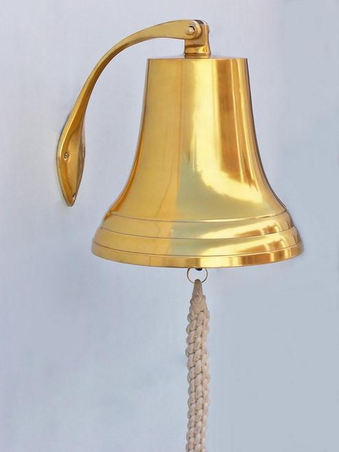 Brass Plated Cast Aluminum Ships Bell Nautical Decor