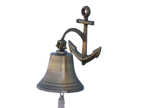 Antique Brass Cast Aluminum Ship Bell Anchor Bracket