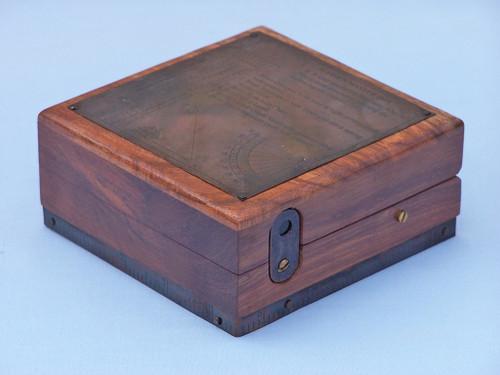 Marine Master Box Compass Telescope Alidade Wood Case