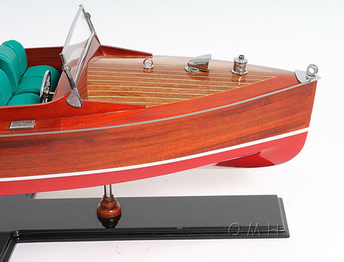 Chris Craft Runabout Wood Model Classic Speed Boat
