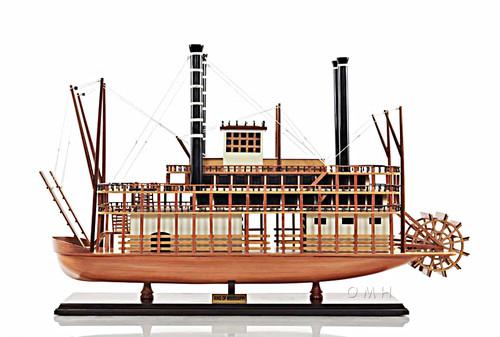 King Of Mississippi Riverboat Steamboat Wood Model