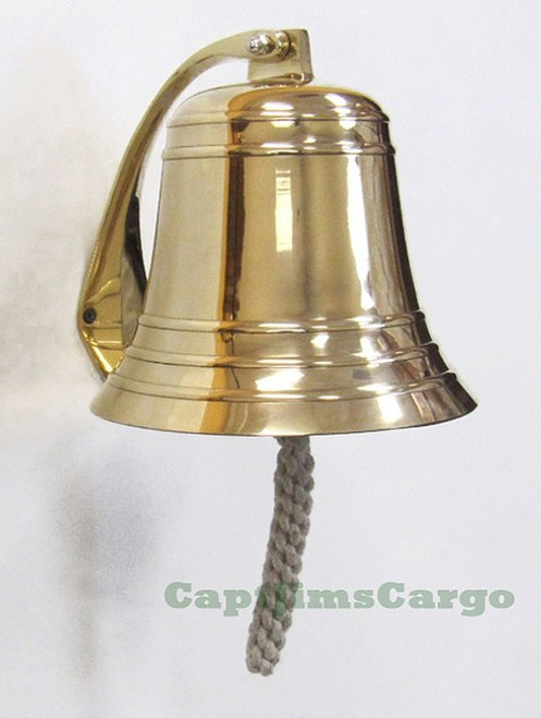 Heavy Solid Cast Brass Ships Boat Bell
