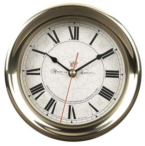 Brass Ships Captain's Clock Quartz Wall Desk