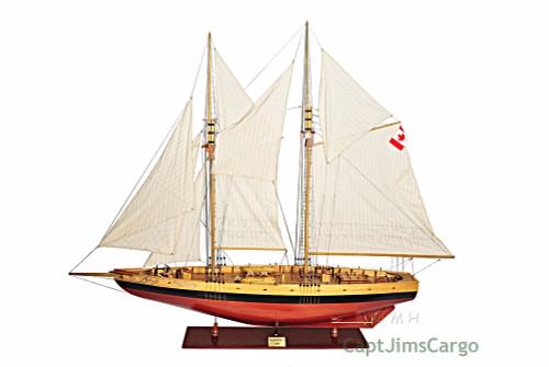 XL Canadian Schooner Bluenose Wood Ship Model