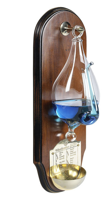 Weather Storm Glass Wooden Wall Plaque Barometer
