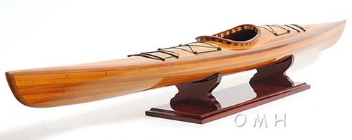 Cedar Strip Built Kayak Display Canoe Model