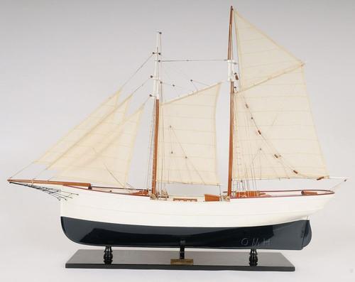 Schooner Wander Bird Wooden Ship Model Sailboat