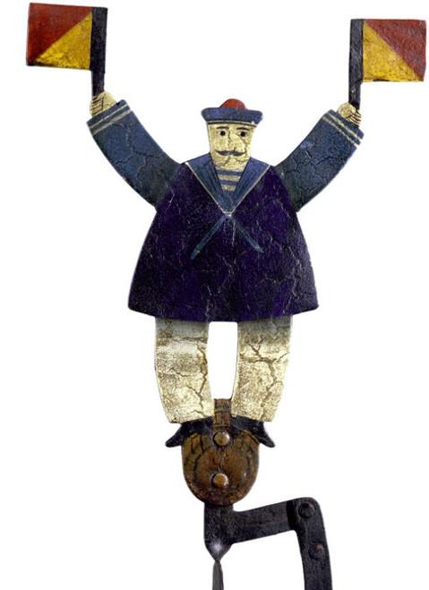 Signal Sailor Seaman Balance Folk Art Toy