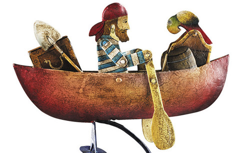 Rowing Pirate Sky Hook Metal Balance Toy