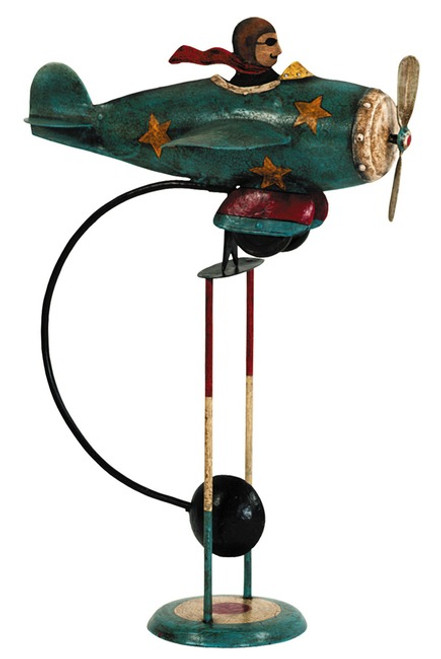 Flying Ace Sky Hook Airplane Metal Balance Toy