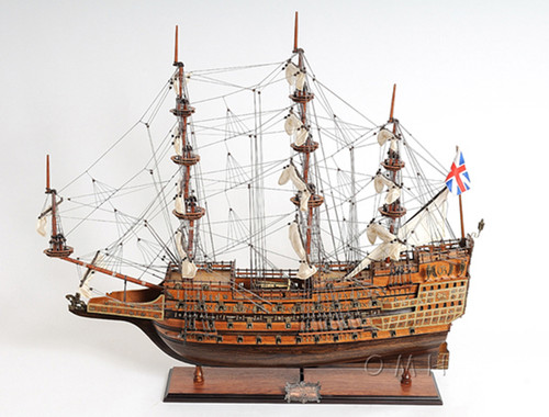 HMS Sovereign of the Seas Tall Ship Wood Model