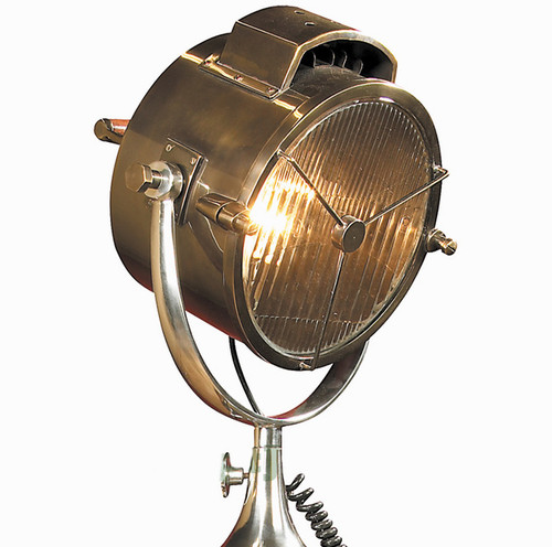 Coast Guard Patrol Spotlight Floor Lamp