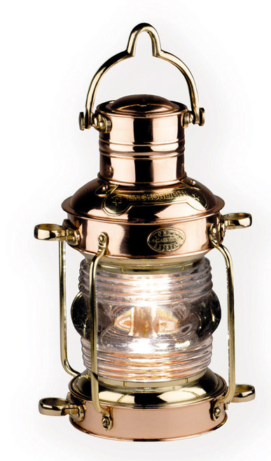 Ships Anchor Light Oil Lamp Lantern Brass Copper