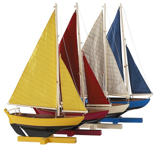 Sailing Dinghy Sunset Sailers Set of 4